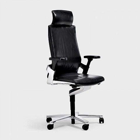 3 d b rodrehstuhl lederpolsterung mit hoher r ckenlehne. Black Bedroom Furniture Sets. Home Design Ideas
