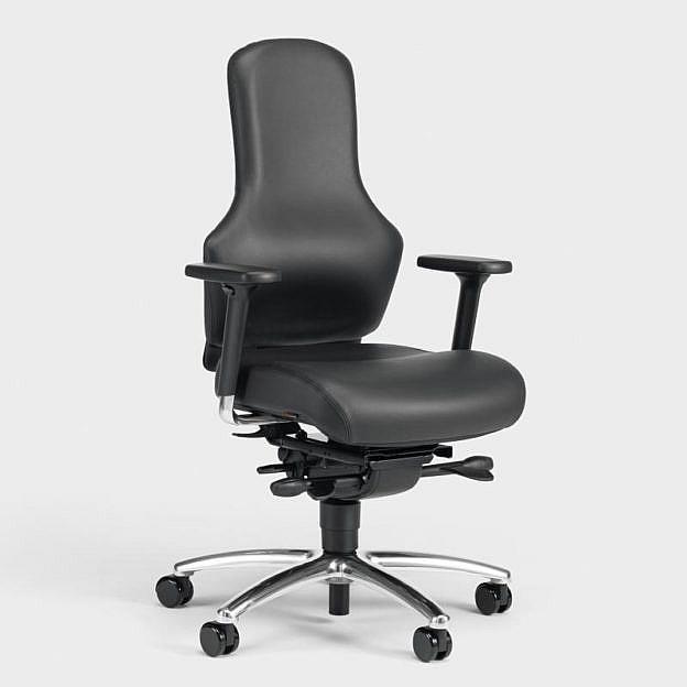 3-D-Bürostuhl Ego, Leder, schwarz