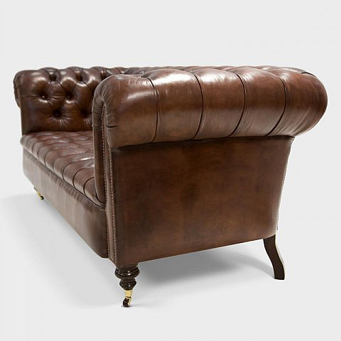 original chesterfield sofa handgef rbt braun. Black Bedroom Furniture Sets. Home Design Ideas