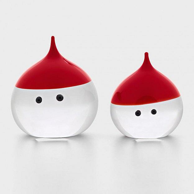Weihnachtsmann Kristallglas