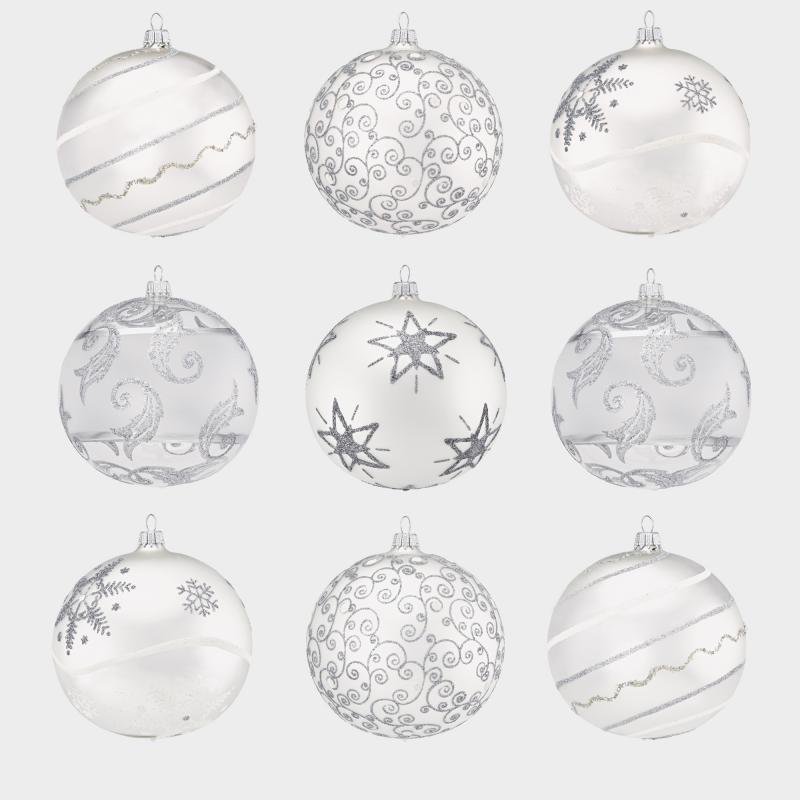Lauschaer Weihnachtskugeln.Lauschaer Christbaumkugeln Silber