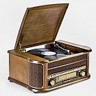 Nostalgie-USB-Aufnahme-Musikcenter Eiche, UKW/MW