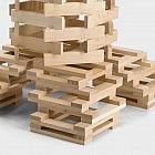 200 Holzbauklötze im Beutel