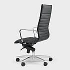 Ergonomischer Bürostuhl Dian, schwarz Hartboden-Rollen