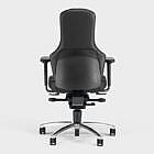 3-D-Bürostuhl Ego, Leder, schwarz, Teppichboden-Rollen