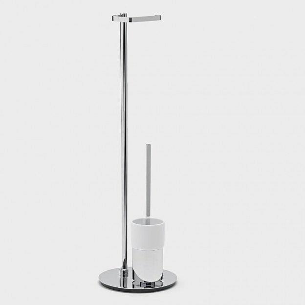 Toilettenbutler Messing/Porzellan