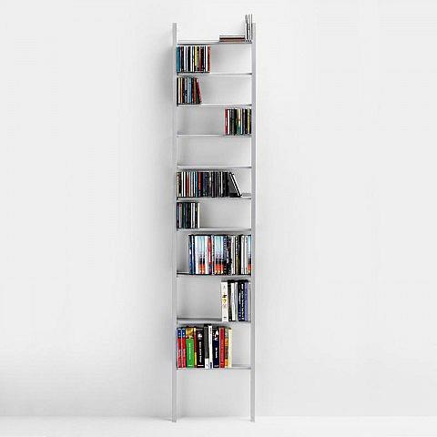 Bücher-/DVD-/CD-Regal, silber