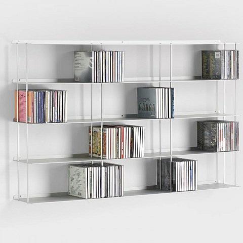 Wand-CD-Regal Aluminium 100 x 60 cm