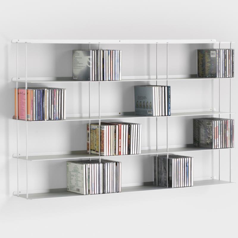 biber umweltprodukte wand cd regal aluminium online. Black Bedroom Furniture Sets. Home Design Ideas