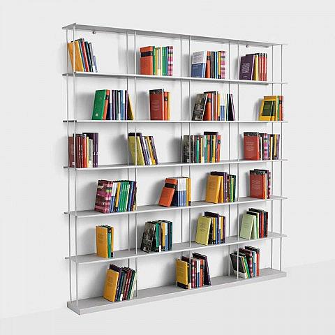 Bücherregal Alu 200 x 203 cm