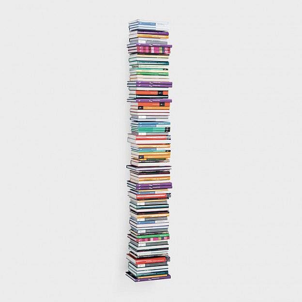 Schwebender Bücherturm Stahl, 166 cm