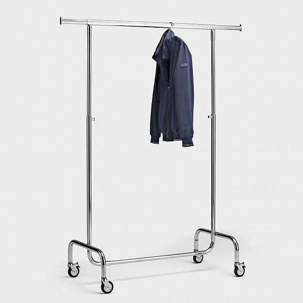 Mobiler Kleiderständer 100 cm, Stahl verchromt