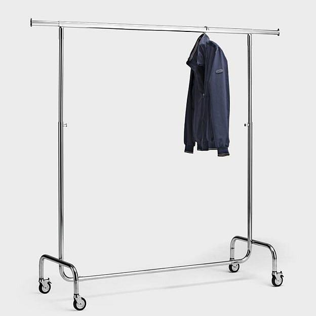 Mobiler Kleiderständer 150 cm, Stahl verchromt