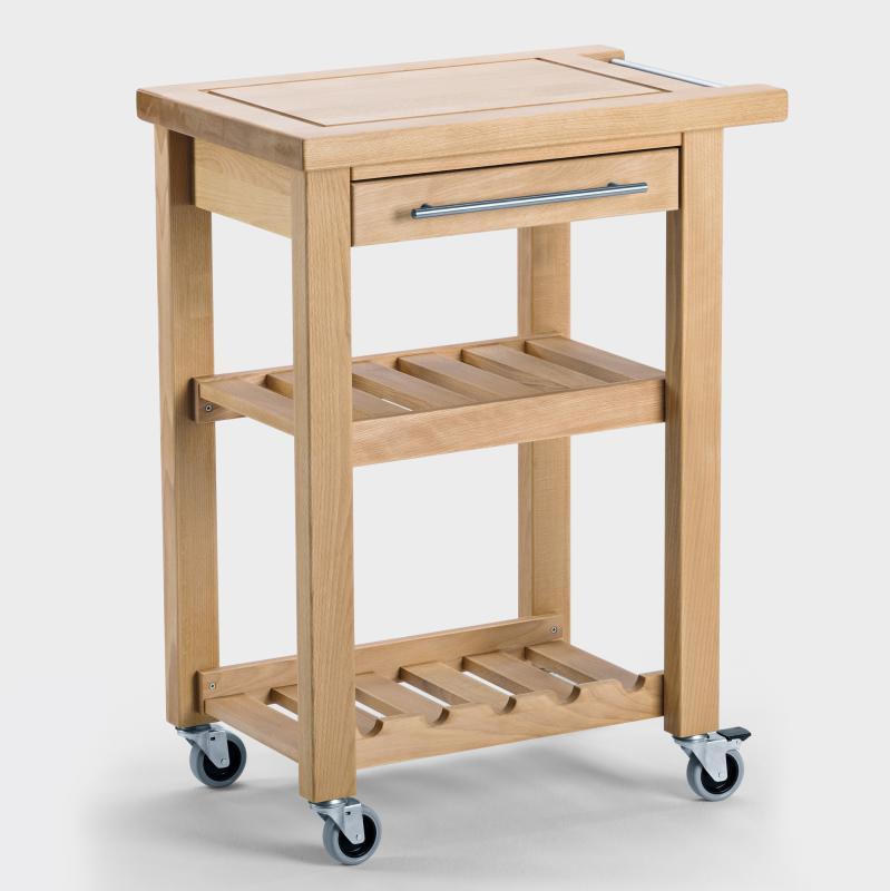 Küchenwagen schmal  Küchenwagen schmal aus Holz - Biber.ch