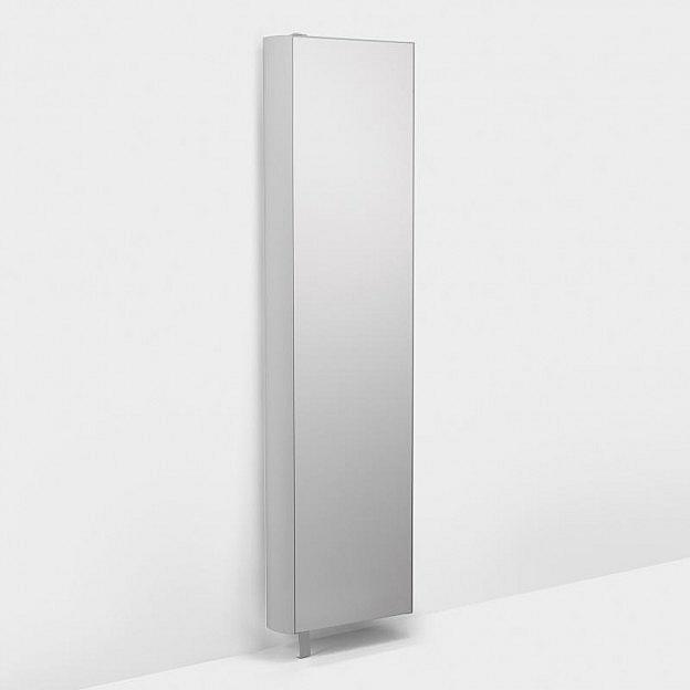 Drehregal mit Spiegel, weiss, 51 cm
