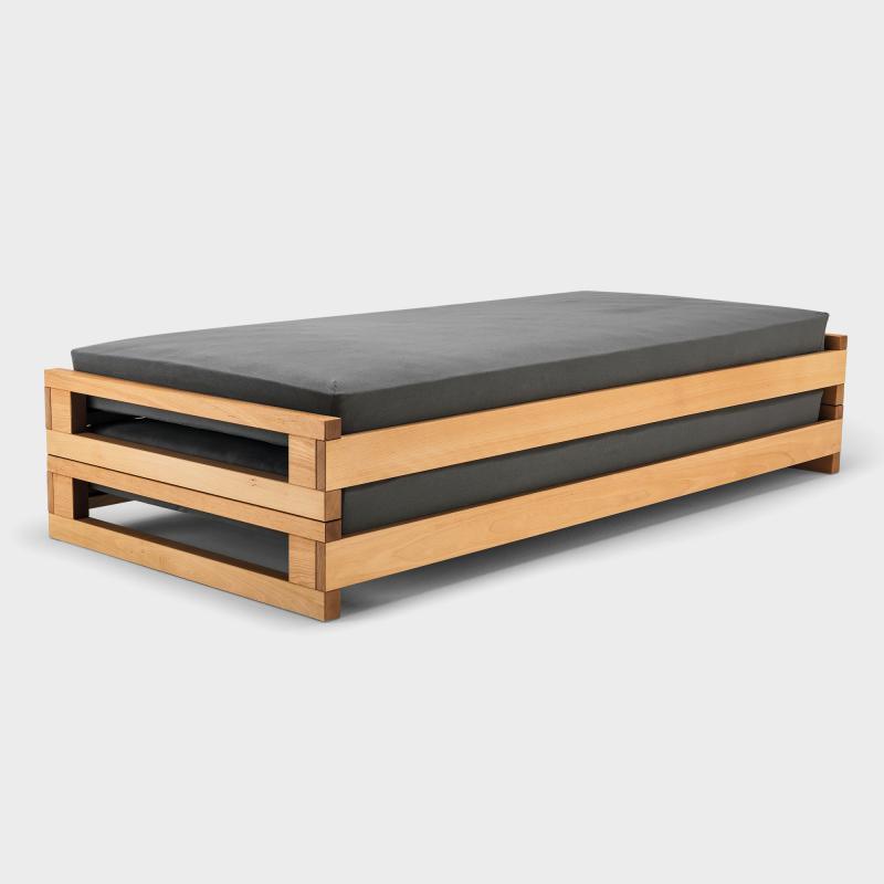stapelbett kinder stapelbett iku bett tagesliege von. Black Bedroom Furniture Sets. Home Design Ideas