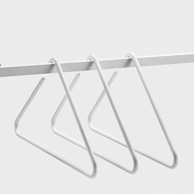 Kleiderbügel Triangle Aluminium, weiss