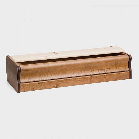Bodensockel mit Schublade für Vitrine klein und mittel, Birke gebeizt