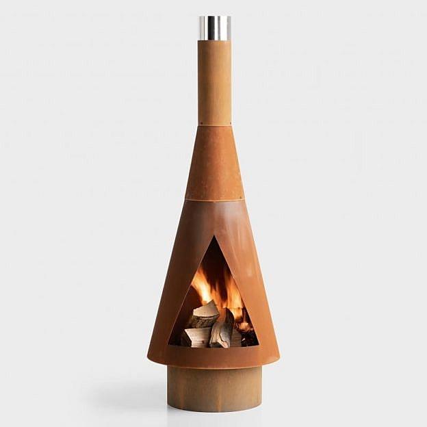 Terrassenofen/-grill Cadis, Cortenstahl