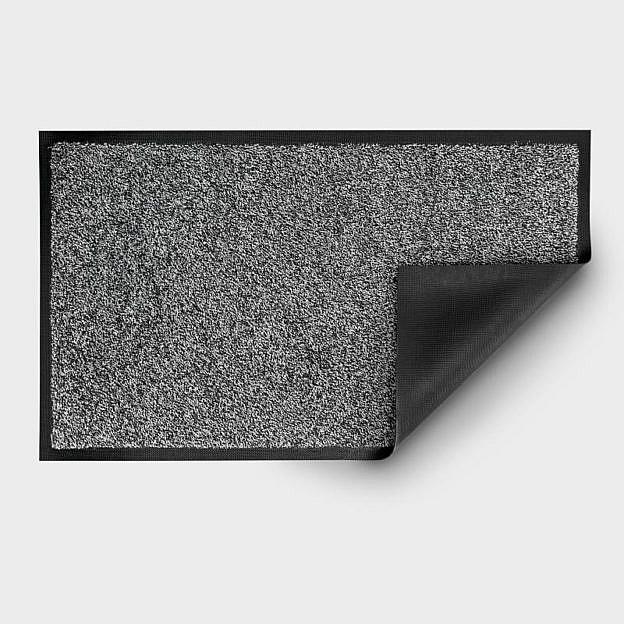 Gewerbe-Fussmatte waschbar, Gummi, schwarz/weiss