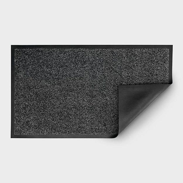 Gewerbe-Fussmatte waschbar, Gummi, granit