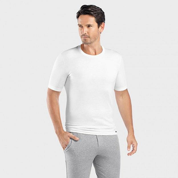 Hanro-Herrenshirt kurzarm, weiss