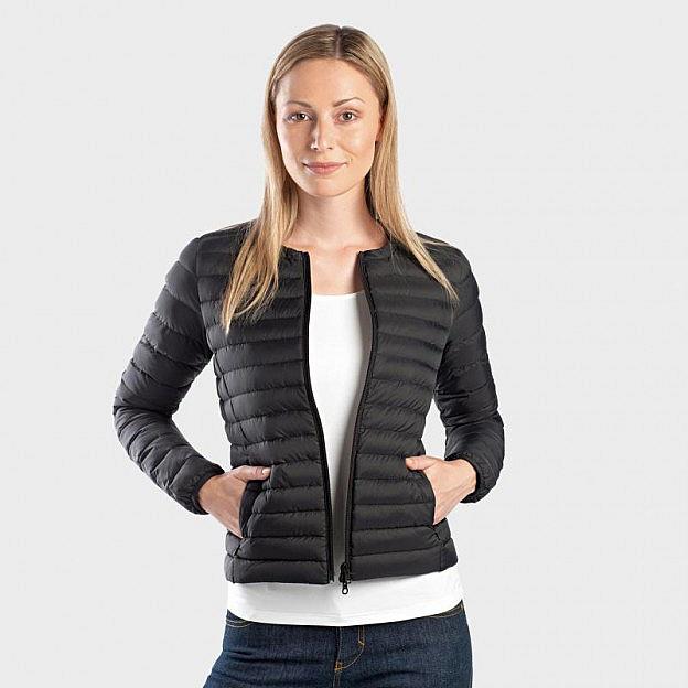 Ecoalf-Damen-Daunensteppjacke, schwarz