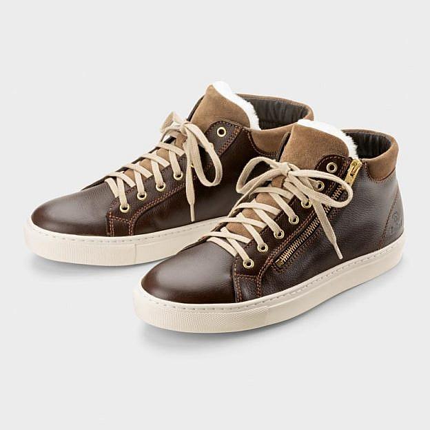 Damen-Lammfell-Sneaker