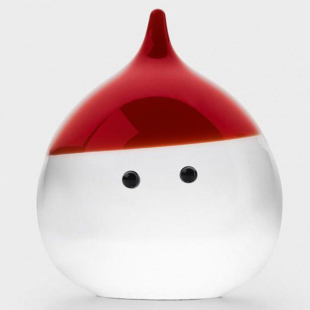 Weihnachtsmann Kristallglas klein