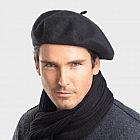 Baskenmütze 100% Cashmere, schwarz