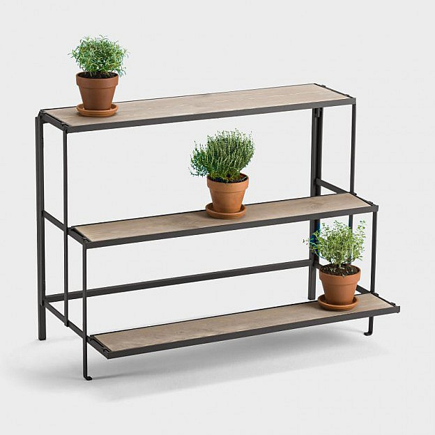 faltbares blumen regal stahl. Black Bedroom Furniture Sets. Home Design Ideas