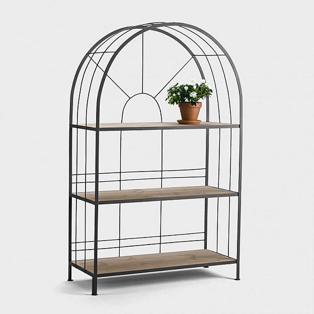 terrassen regal stahl breit. Black Bedroom Furniture Sets. Home Design Ideas