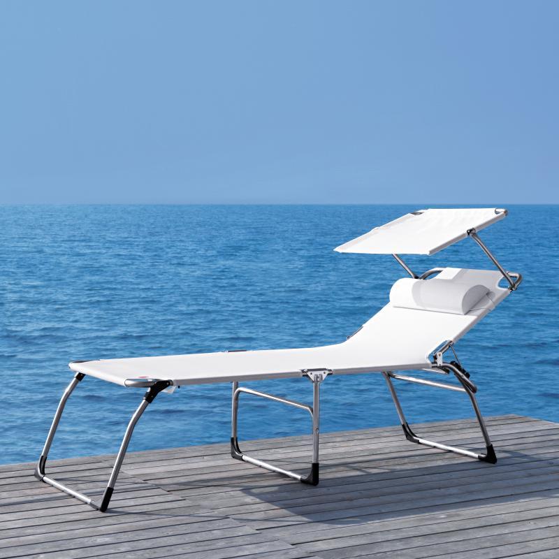 Sonnenliege mit dach  Komfort-Dreibein-Sonnenliege mit Dach - Biber.ch